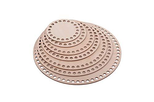 Lagrave Creative Korbboden Set, Korbböden, Korbböden zum Häkeln, Sperrholz Basen für Häkelkorb, 10cm, 15cm und 17cm (15 cm x 5 Stck)