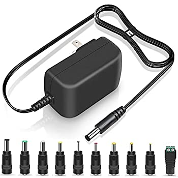 PERFEIDY UL Listed 15V 1A 0.8A 0.5A Charger AC Adapter 15W Switching DC Power Supply Universal Adaptor 15Volt 1000mA 800mA 500mA Regulated Transformer Plug Cord with 10 Interchangeable Jacks