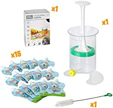 The Original Patented Fill n Squeeze Baby Weaning Pouch Filling Station for Homemade Baby Food, Apple Sauce, Smoothies,Reusable Pouches, Cleaning Brush & Filling Food Station. UK Made