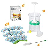 Lot de 15 Gourdes Rechargeables et Réutilisables 150ml pour compotes et purées   pour Bébé Gourdes Réutilisable pour Enfants   - Va au Congélateur & au Lave-Vaisselle - Sans BPA Fill n Squeeze