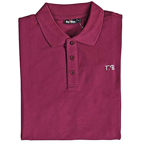 Tony Brown - Herren Polo Shirt Uni rot M
