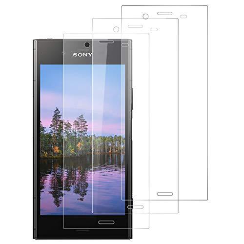 PUUDUU Cristal Templado para Sony Xperia XZ1, Protector de Pantalla para Sony Xperia XZ1, Vidrio Templado, Sin Burbujas, Anti-Rasguños, Alta Definicion, HD Transparente - [3 Pack]