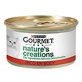 Nestlé Purina Gourmet Nature's Creation Comida húmeda para Gatos Buey 24 x 85 g - Pack de 24