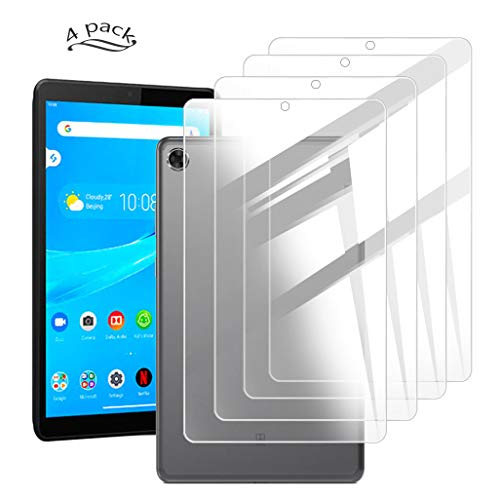 HHUAN [ 4 Pack ] for Lenovo Tab M8 TB-8505F / TB-8505X 8 inches Screen Protector, HD No Bubble 9H Hardness Anti-Scratch Tempered Glass for Lenovo Tab M8 TB-8505F / TB-8505X 8 inches