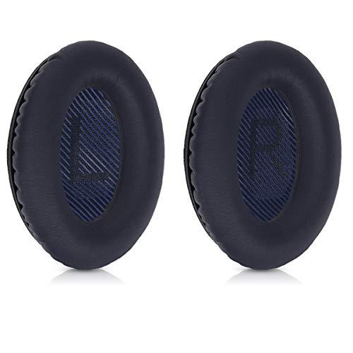 kwmobile 2X Ohrpolster kompatibel mit Bose Quietcomfort 35 / QC35 Wireless II Kopfhörer - Kunstleder Ersatz Ohr Polster für Overear Headphones