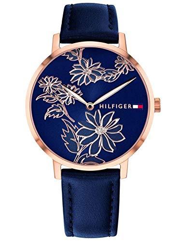 Tommy Hilfiger Unisex Analog Quarz Uhr mit Leder Armband 1781918