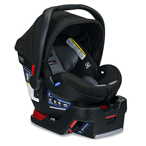 BRITAX B-Safe Ultra Infant Car Seat - Rear Facing | 4 to 35 Pounds - Reclinable Base, 2 Layer Impact Protection, Noir