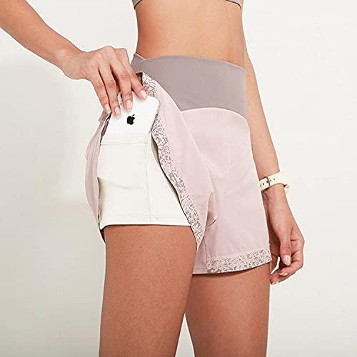 bayrick Mallas Push up Mujer Leggings,Pantalones Cortos de Yoga de Encaje de Taladro Caliente de Las Mujeres Pantalones Cortos Antideslizantes Falsos-4_Metro