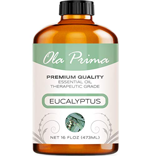 Ola Prima 16oz - Premium Quality Eucalyptus Essential Oil (16 Ounce Bottle) Therapeutic Grade Eucalyptus Oil