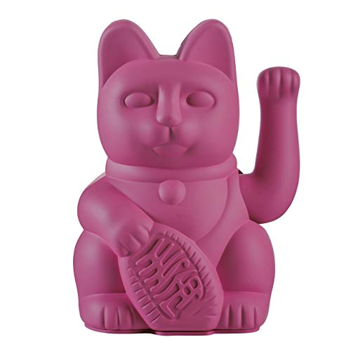 Donkey Products - Lucky Cat Purple - lila Winkekatze | Japanische Glücksbringer Deko-Katze in stylischem matt-Farbton