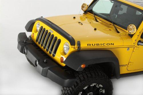 Auto Ventshade 24901 Bugflector II Dark Smoke Hood Shield for 2007-2018 Jeep Wrangler JK