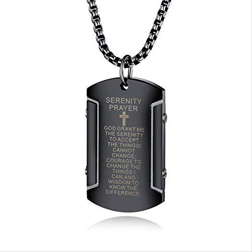 Revilium Negro Color Acero Inoxidable Cruz Biblia Grifo Colgante Collar para El...