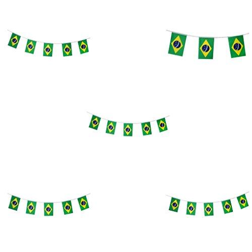 dailymall 5 Stücke Brasilien Fahnen Fußball Fußball String Fahnen Banner Decor 5,5 Mt