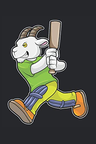 Cricketspieler Notizbuch, 120 Seiten: Ziege - Geschenke - Cricketspieler Notizbuch - Tagebuch für Frauen, Männer und Kinder - Liniert