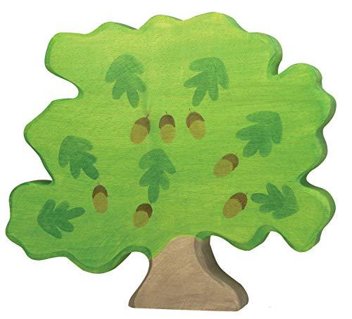 cama24com Eiche Baum Holzbaum Holzspielzeug von Holztiger Holzfiguren mit Palandi® Sticker
