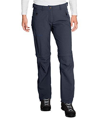 VAUDE Damen Hose Women's Farley Stretch Zip-Off T-Zip Pants, abzippbare Wanderhose, eclipse, 40/Short, 401447504400