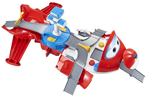 Auldey – Super Wings Playset Avión Jett's Takeoff Tower + 1 Figura Jett 'Pop-Transform' – EU720830