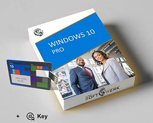 Windows 10 Pro Vollversion | Aktivierungspaket | 32-bit Installations-USB-stick + Original Produktschlüssel | EU-Konform