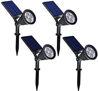 FALOVE Solar Spotlight,2-in-1 LED Wall/Landscape Solar Lights, 270° Adjustable Waterproof Outdoor Landscape Lights for Tree, Driveway, Yard, Lawn, Pathway, Garden (4PCS)