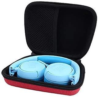 Aenllosi Hard Carrying Case for JBL JR 300BT/ JR 300/ Kids On-Ear Wireless Headphones (red)