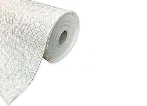 BIANCHERIAWEB Mollettone Copritavolo Gommato Antiscivolo Protezione Tavolo Colore Bianco 140x230 Bianco