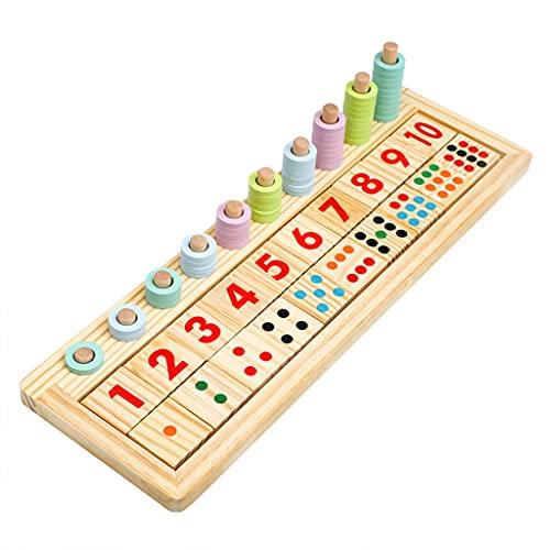 OSELLINE Interesante Matemáticas Puzzle Experimento Científico Madera Apilamiento Conteo Juego Bloque Herramientas de Enseñanza Niños Juguetes Cognitivos