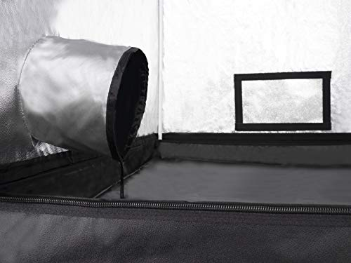 TRAFIKA Armadio Coltura Interna 100x100x200cm / Grow Tent/Grow Box/Armadio Indoor Coltura/Armadio Grow Idroponico/Mylar Premium 97% Riflettività