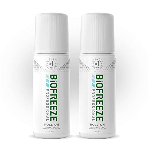 Biofreeze Professional Pain Relief Roll-On, 3 oz. Bottle, Green, Pack of 2