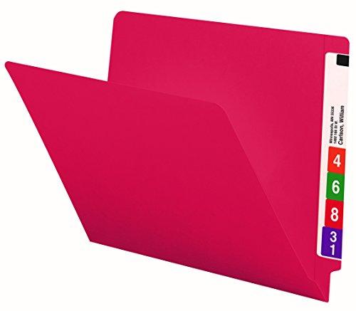 Smead End Tab File Folder, Shelf-Master Reinforced Straight-Cut Tab, Letter Size, Red, 100 per Box (25710)