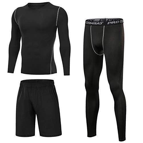 Sykooria Camiseta de Compresión Deportiva para Hombre Ropa Deportiva de Transpirable y Secado Rápido Correr Gym Entrenamiento Ciclismo