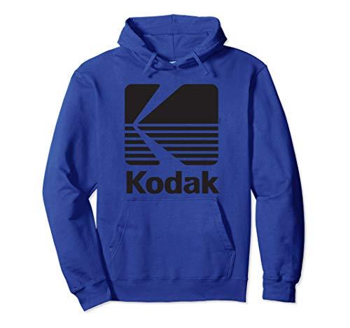 80er Jahre Vintage Kodak Logo - schwarz - Hoody Pullover Hoodie