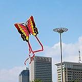 LYYN Cometa Cola Larga Cometa Animal Lindo Tan Bueno Volando Cometa de Dibujos Animados para niños