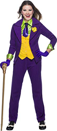 Charades DC Comics Joker Women's Costume, As Shown, Large
