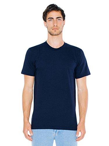 American Apparel Herren T-Shirt Fine Jersey Short Sleeve - Blau - Mittel