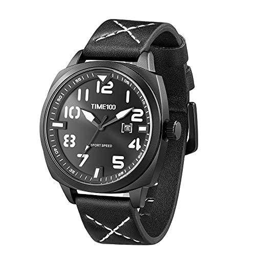 TIME100 Orologio sportivo digitale militare elettronico impermeabile luminoso giapponese orologio da polso per uomini donne nero