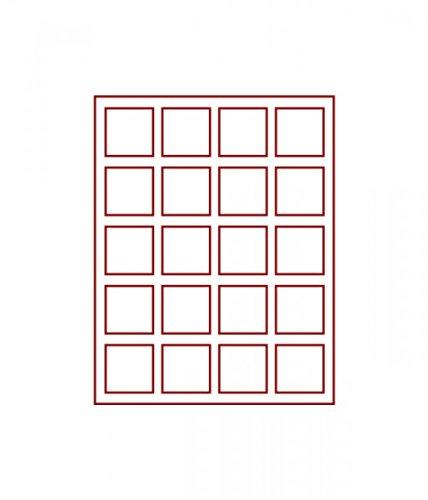 LINDNER Das Original d-Box FUMÉ à 20 alvéoles carrés 47 x 47 mm pour Monnaies/médailles ou Autres Objets de Collection