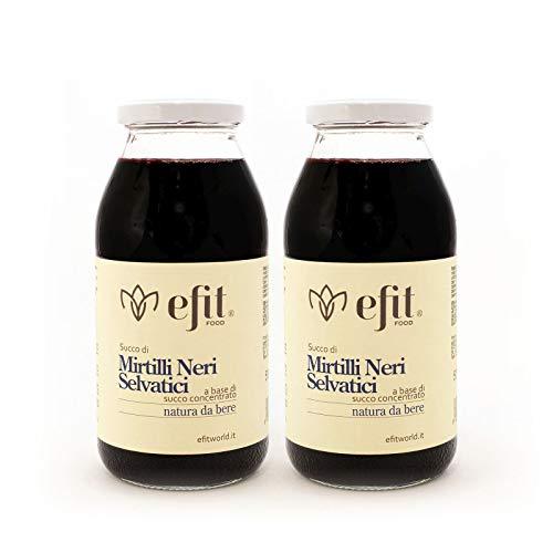 Succo di mirtilli neri selvatici 100% - Efit - 500ml confezione da 2 pezzi