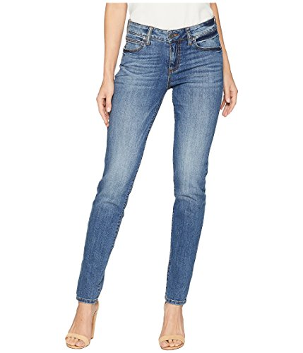 KUT from the Kloth Diana Kurvy Skinny Jeans in Perfection Perfection/Medium Base Wash 6 30