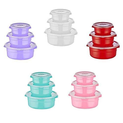 6er-Set Runde 0,5L-1L-2L Mikrowellengeschirr   Aufbewahrungsdosen   Frischhaltedosen   Küchendosen   Schüssel mit Deckel