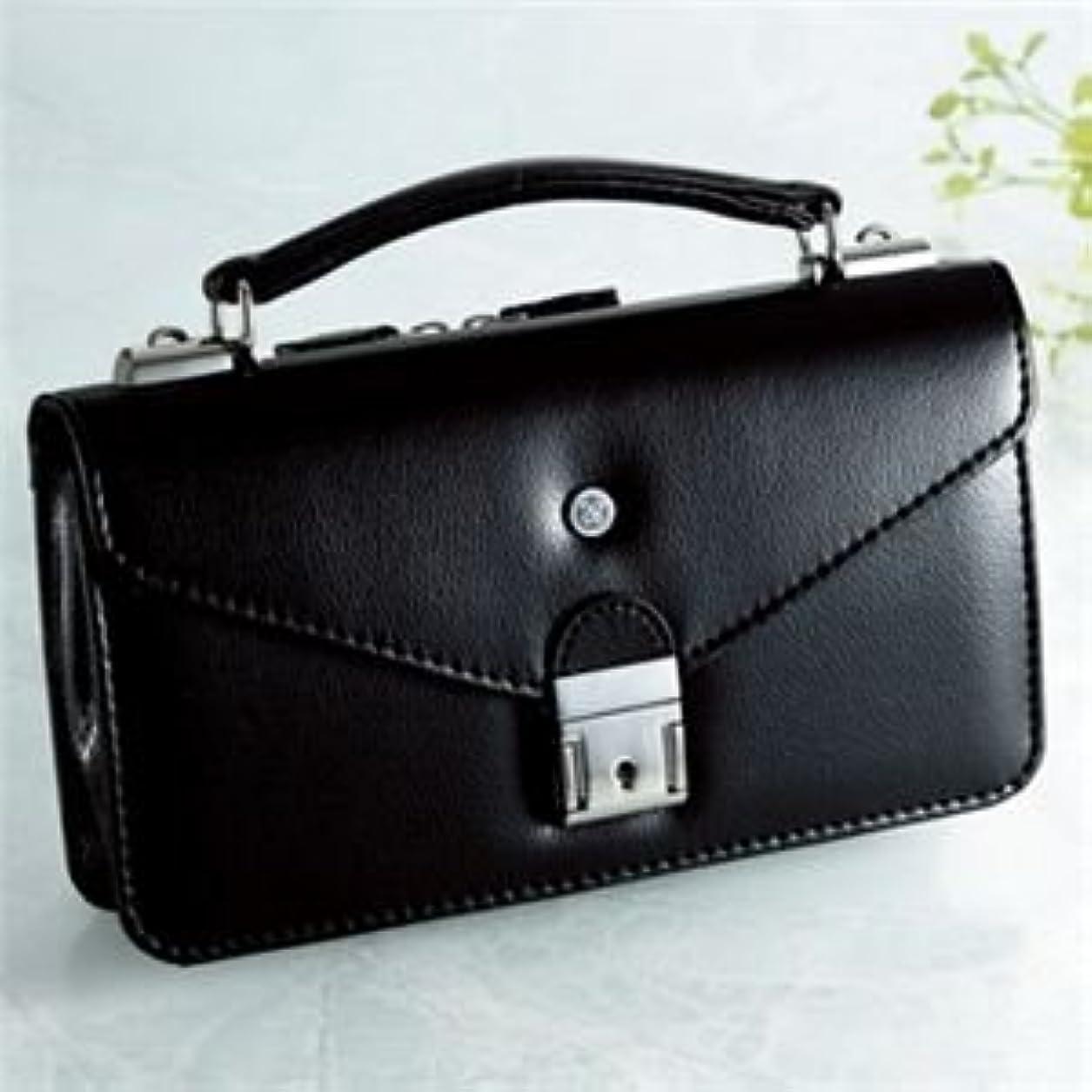 ジョブその間アリ【日本製】家紋付 礼装多機能バッグ (小) 鍵付◆抱き茗荷 backs-47