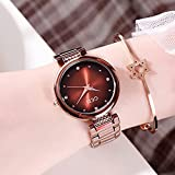 Binn Orologi Polso Diamond Ladies Steel Strap Watch Colorful Female Fashion Quartz Chronograph Orologio da Polso da Polso Casual Watch Femmina al Quarzo Cronometro (Color : C)