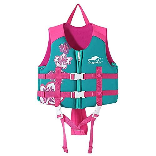 Gogokids Chaleco de Flotación para Niños Niñas - Chaleco de Natación Bebé Flotabilidad Ropa de Baño Aprendizaje de Natacion