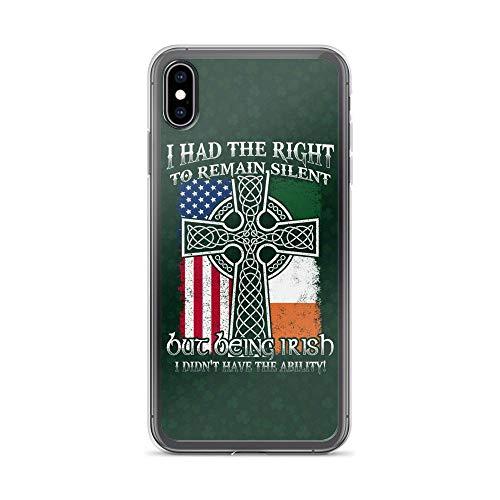 Compatible for iPhone XR Cases American Ireland Flag Christian Cross Fun Irish Meme Anti Bumps Scratches