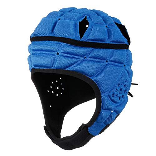 surlim Rugby Helmet Headguard Headgear for Soccer Scrum Cap Soft Protective Helmet for Kids Youth Blue Medium