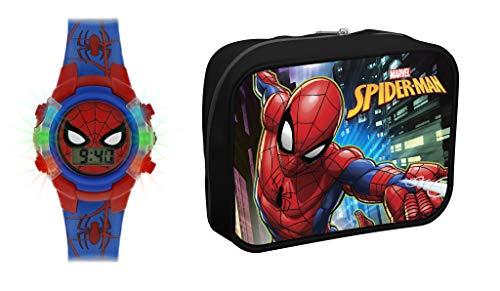Spiderman Reloj Digital para Nios de Cuarzo con Correa en Plstico SPD4504ARGSET
