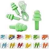 Tapones para oídos de silicona ( 12 Pares ), Tapones para Los Oídos con Cancelación de Ruido, Reutilizables, Impermeables, Protección Auditiva, Tapones Oidos para Dormir