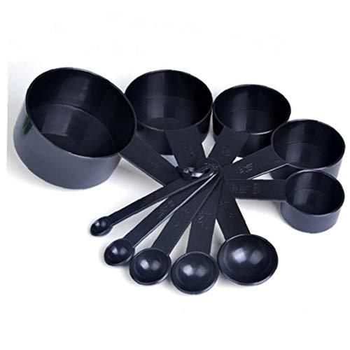 10pcs / Set Messbecher Löffel Küchenhelfer Cups Foodservice Löffel Backen Kuchen Flüssig Mehl Zutaten Messen Löffel