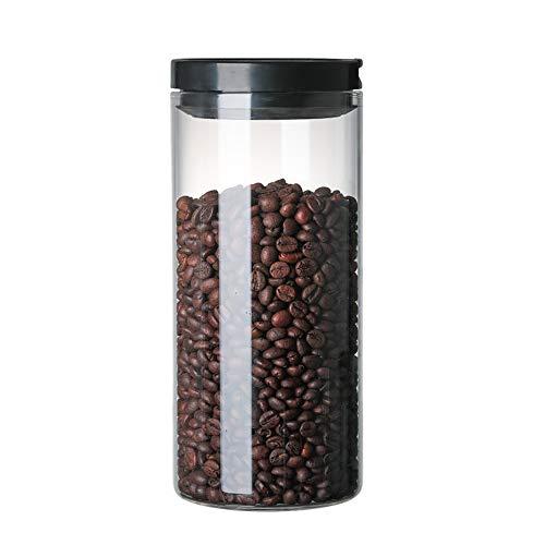 Opbergdoos van glas met deksel, koffie, thee, zaden, snoep, bewaren van vocht in de keuken (3 stuks) 1200ml