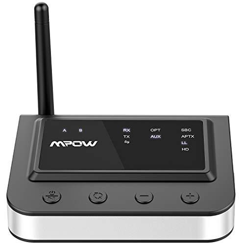 Mpow 164Ft Long Range Bluetooth 5.0 Transmitter Receiver, Hi-Fi Sound Bluetooth Transmitter for TV with Optical Digital, RCA  Nevada