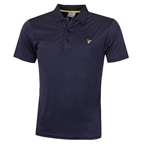 Lyle & Scott Kinloch Microstripe Polo Shirt, Polo coupe droite Col À Boutons Manches Courtes Homme, Marine (Navy/Cobalt), Medium